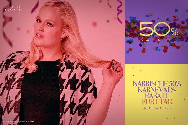 50 % Karnevals-Rabatt im Atelier Blanche Onlineshop