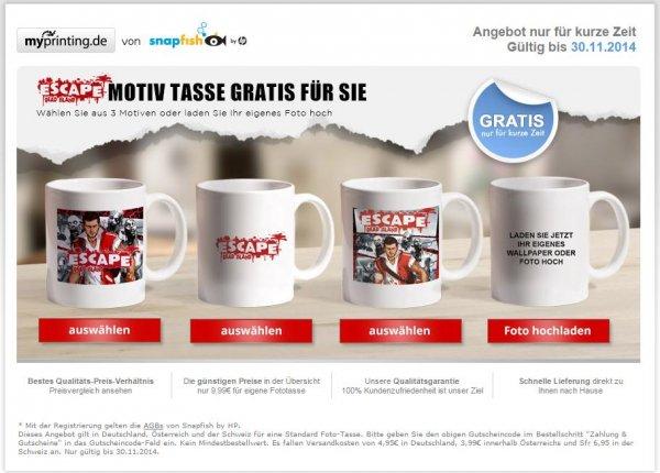"""Gratis Tasse mit """"Escape Dead Island""""- oder privaten Motiv + VSK [4,95€]"""