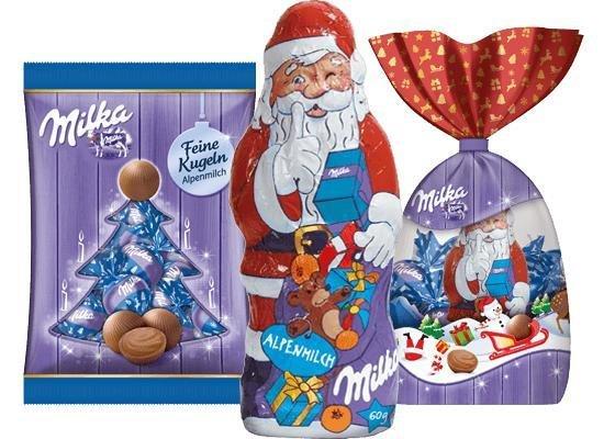 1€ auf Milka Weihnachtleckereien