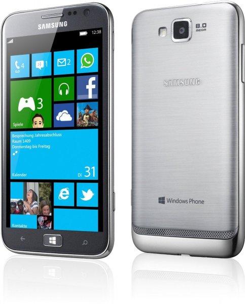 Ebay WoW: Samsung GT-I8750ALADBT ATIV S Smartphone (12,2 cm (4,8 Zoll) Super AMOLED Display, 8 Megapixel Kamera, Full-HD Video, Win 8.1*) silver 159€ (idealo 189,90€)