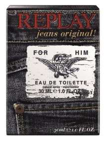 Replay Jeans original For Him  30 ml Eau de Toilette Spray Rossmann Green Label 7,00 Euro Top!!!