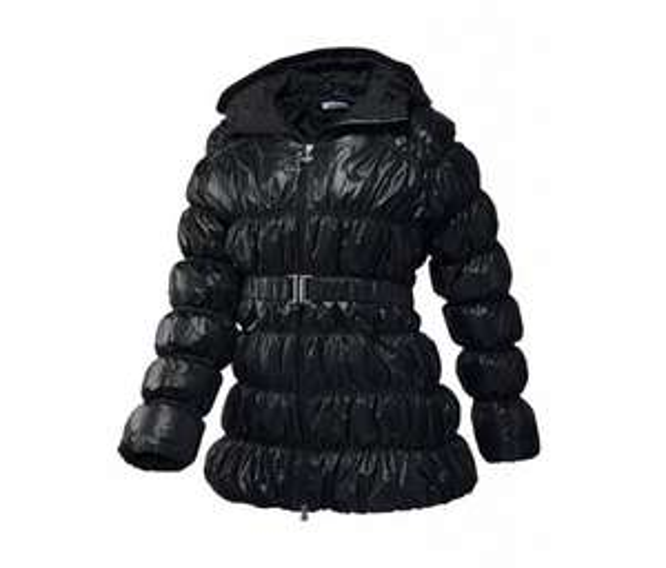 adidas DOWN LONG HOODED JACKET Damen Winterjacke schwarz