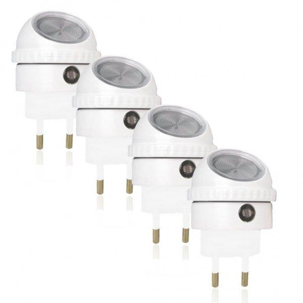 [amazon] ORKSUN Automatische Nachttleuchte mit 360° weißem Swivel LED Nachtlicht mit Sensor (4er Pack)