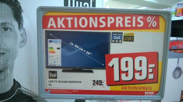 """[Rewe bundesweit] Dual DLE39F182P3CV2 39"""" LED TV mit Triple Tuner und Smart TV für 199,-"""