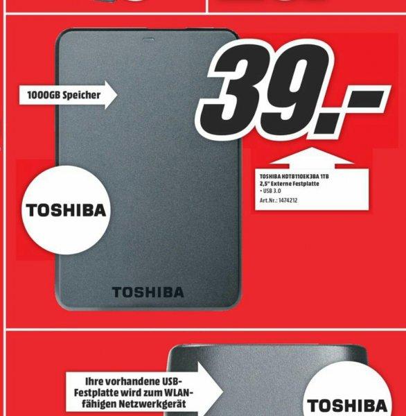 """(Lokal MM Bonn)Toshiba Stor.E Basics 2,5"""" 1TB Externe Festplatte für 39€"""