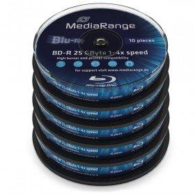 Mediarange BD-R 25 GB, 4x Speed, 100 Stück