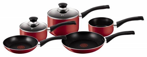 Tefal Bistro Red Kochgeschirr-Set, 5-teilig, rot für 51,03 € @Amazon.co.uk