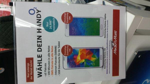 Samsung Galaxy Alpha für nur 24,98 Monatsgrundpreis