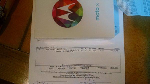Motorola Moto x 190€