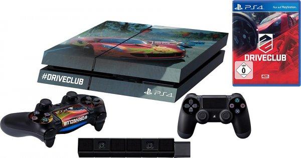 PlayStation 4 (PS4) 500 GB + Driveclub + 2 Controller Konsolen-Set + Design Folie