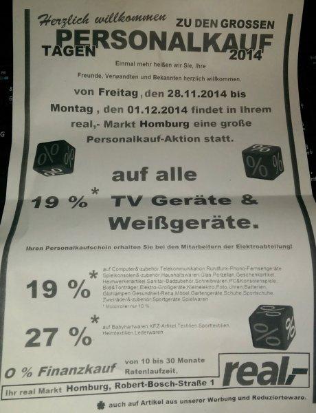 "[Lokal Homburg/Saar // eventuell Bundesweit] Real ""Personalkauf-Tage"""