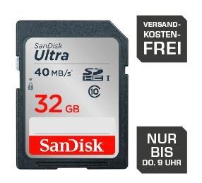 Sandisk SDHC Ultra 32GB Class 10 UHS-I für 14,99€ inkl. Versand @Saturn.de