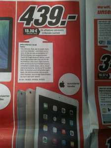 MM München/Erding/Karlsfeld iPad Air 2 16GB WiFi grau/weiß/gold