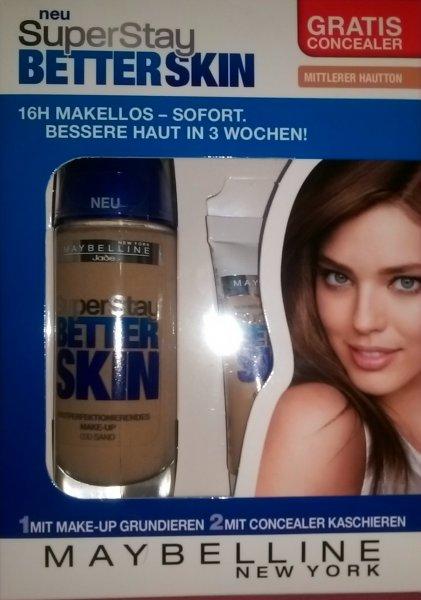 [Rossmann] Maybelline SuperStay Better Skin Makeup mit gratis Concealer