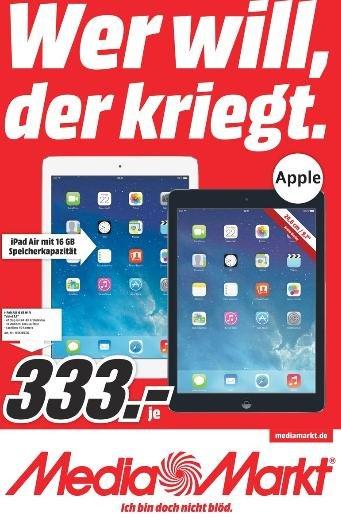 [Lokal - Media-Markt Weiterstadt] Apple iPad Air 16 Gb WiFi