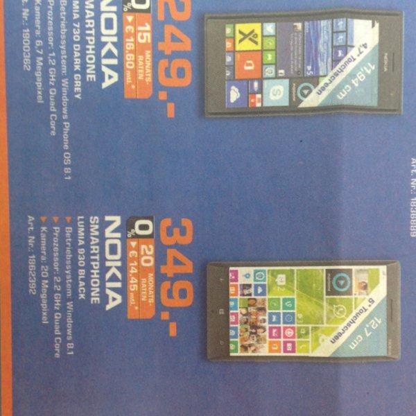 [local Saturn Hannover] Nokia Lumia 930 für 349€, Lumia 730 für 249)