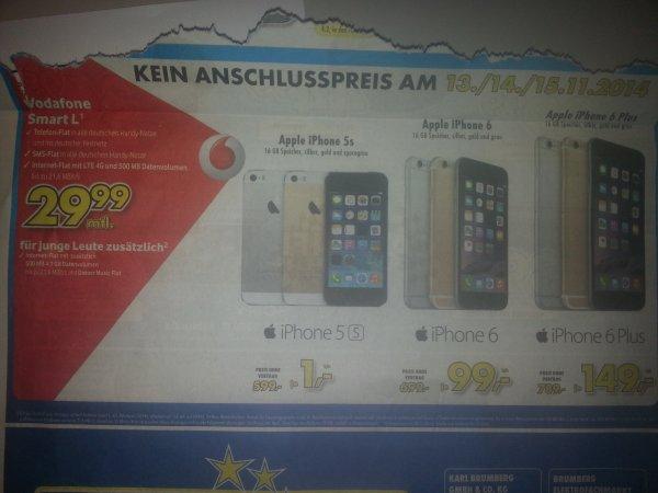 iphone 6 plus 16GB Vodafone Smart L zusammen 2 Jahre Lokal Kamen