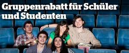 Gruppenrabatt für Schüler/Studenten in dem UCI Kino in Düsseldorf