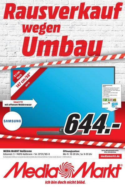 Lokal Media Markt Heilbronn Rausverkauf wegen Umbau Samsung UE 58 H 5273 LED TV 644€!!!!!!