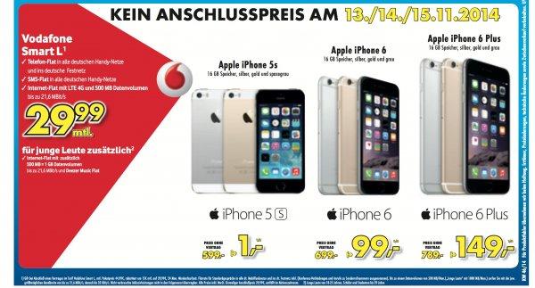 [Lokal Kamen] iPhone 6 mit 16GB für 29,99 EUR/Monat + 99 EUR Zuzahlung ALLNET VODAFONE