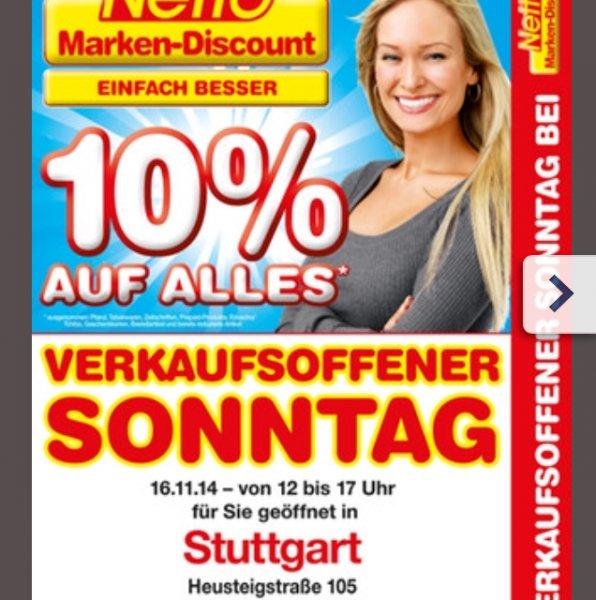 [Local Stuttgart] Netto 10% Verkaufsoffener Sonntag