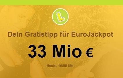 1x Gratis EuroJackpot Feld im Lottoland (33 Mio € Jackpot) (Bestandskunden)