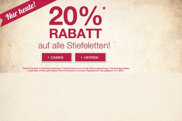 ROLAND Schuhe Aktion: 20% Rabatt auf Stiefeletten