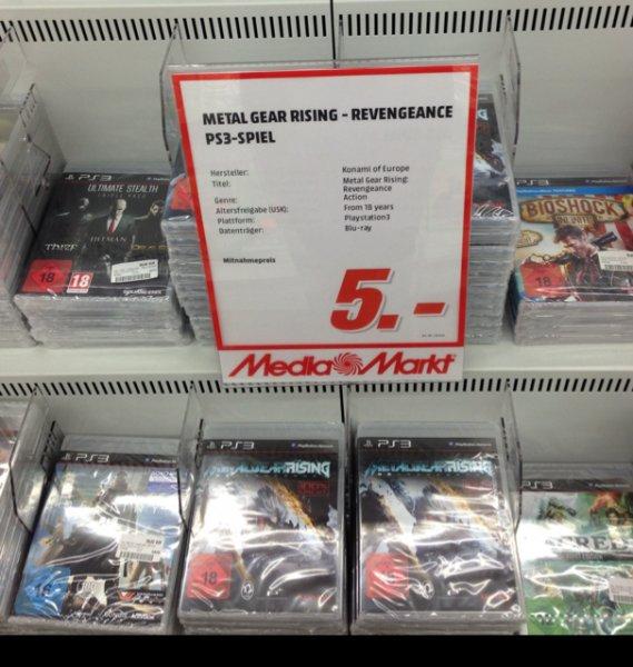 PS3 Metal Gear Rising - Revengeance je 5 € Media Markt Bayreuth