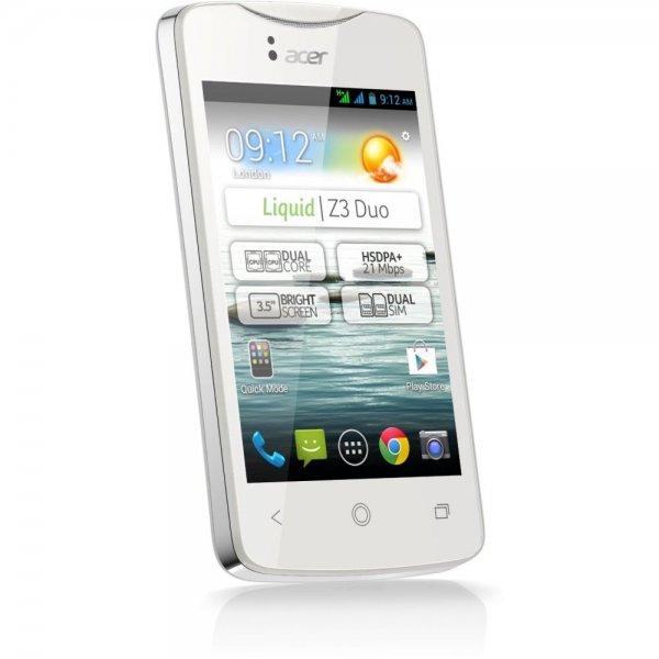 EBAY: Acer Liquid Z3 DUO Z130 Dual-SIM Handy Smartphone Bluetooth 3G WOW für 59,90 € inkl. Versand