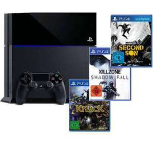 Sony Playstation 4 PS 4 500 GB Killzone: Shadow Fall, Knack & inFamous Second für 399€