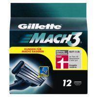 Gilette Mach 3 Rasierklingen 12 Stück für 12,99 + 1,99 Versand