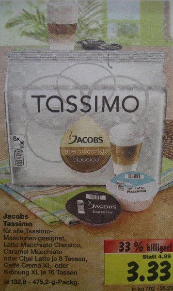 [offline/Lokal] Jacobs Tassimo Disc [Kaufland] verschiedene Sorten für 3,33€ ab 17.11-22.11