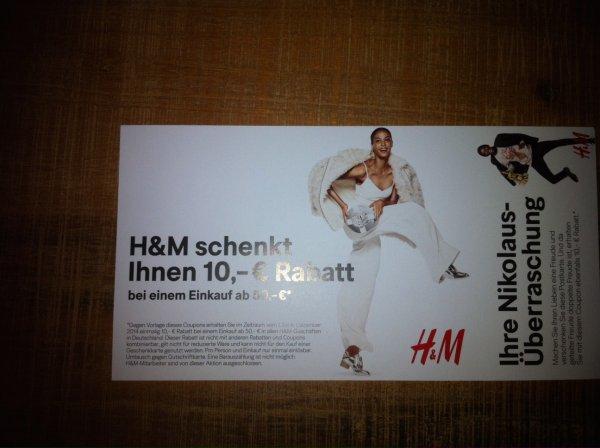 10€ H&M Gutschein (50€ MBW)