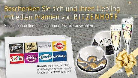 [Ritzenhoff & Tiernahrung] Prämien für Einkäufe von Tiernahrung (U.a. Für Pedigree Dentastix)