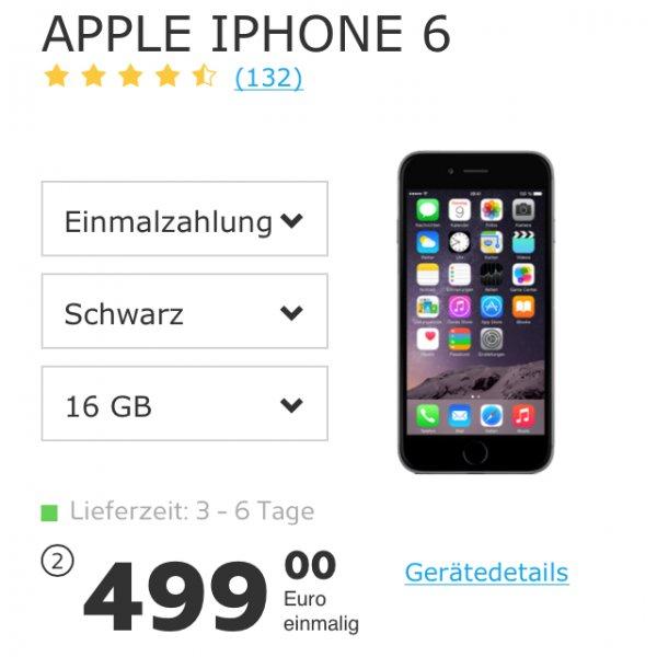 iPhone 6 16 GB für 499€ ohne Vertrag bei simyo.de