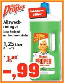 [Thomas Philipps] Meister Proper Allzweckreiniger 1,25L für 0,99€