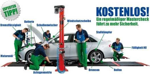 """Kostenlose Kfz-Prüfung bei Euromaster """"10-PUNKTE-MASTERCHECK"""""""