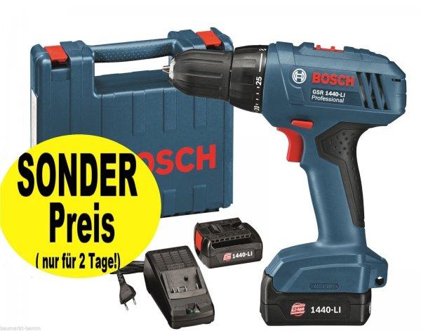 Bosch Professional Akku-Bohrschrauber GSR 1440 Li mit 1xAkku für 89,90€ oder 2x Akku für 104,80€