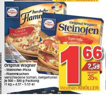 [Edeka + Marktkauf Hessen] Wagner Steinofen Pizza, Pizzies oder Flammkuchen für 1,66€