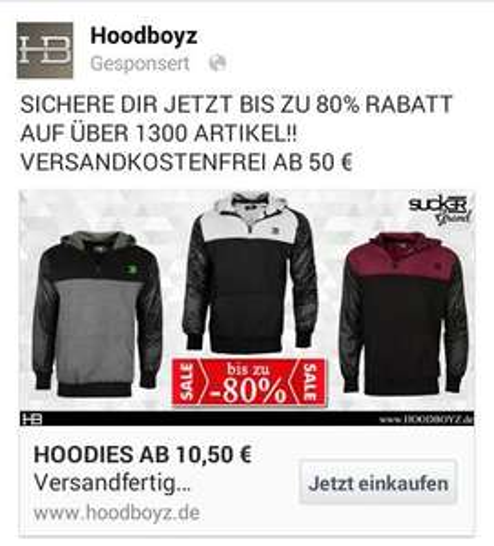 Zip Hoodies bis zu 80% reduziert bei Hoodboyz Online Shop ab
