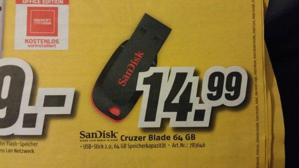 (medimax) SanDisk cruzer blade 64gb