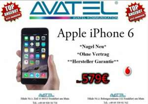 IPhone 6 16 Gb neu [Avatel] (Frankfurt am Main) D2-Simlock