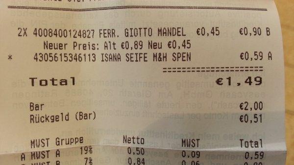 [Rossmann] Giotto inkl. Cappucino McDonald's GS - Ausver, evtl bundesweit