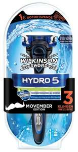[dm]Wilkinson Hydro 5/3 Movember Edition inkl. 3 Klingen mit 50% Coupies Cashback --> 2,98€/2,73€