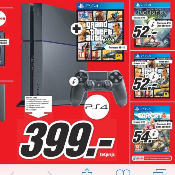 [Media Markt NL] GTA5, Dragen Age für 52€ und Far Cry4 für 54€-PS4 + GTA5 für 399€