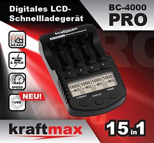 BC-4000 Pro Akku Ladegerät für eneloop Akkus - verbesserter BC-700 Klon !!!