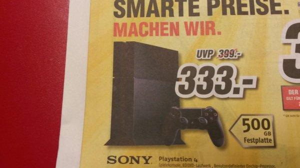 [Mediamax bei Fürstenau] Sony Playstation 4 für 333 €