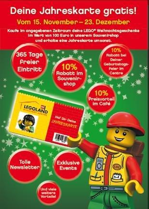 [Lokal Oberhausen] Gratis Legoland Jahreskarte beim Einkauf ab 100€ im Legoland Souvenirshop
