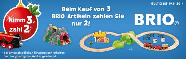 TOYS R US   Brio Eisenbahn    Nimm 3, Zahl 2.   Gültig bis 19.11.