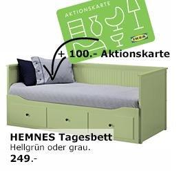 [IKEA Nürnberg/Fürth] 100€ Aktionskarte beim Kauf eines HEMNES Tagesbettes